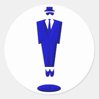 manikin / suit / man classic round sticker