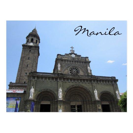 manila cathedral postcard