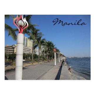 manila harbor postcard