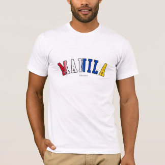 Manila in Philippines national flag colors T-Shirt