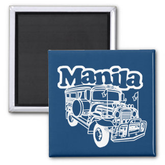 Manila Jeepney 2 Inch Square Magnet