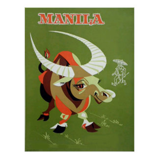 Manila philipines vintage poster
