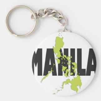 Manila, Philippines Basic Round Button Keychain