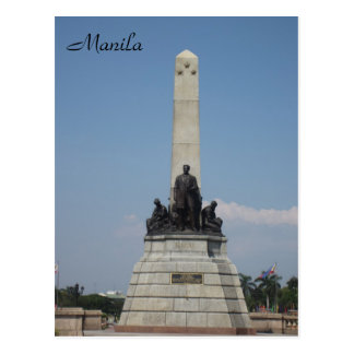 manila rizal monument postcard
