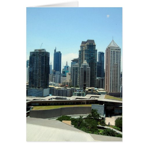 manila sky high greeting card