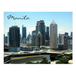 manila skyline post card