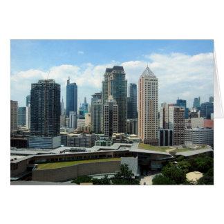 manila skyline view card