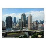 manila skyline view greeting card