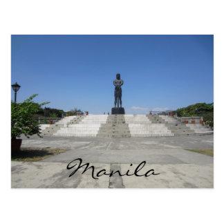 manila statue view postcard