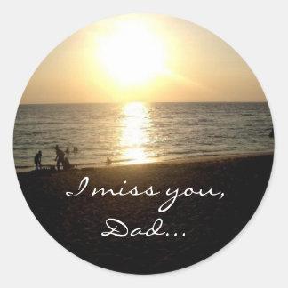 "Manila Sunset ""I Miss You, Dad"" Sticker"