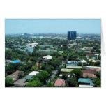 manila view greeting card