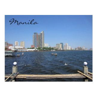 manila water view postcard