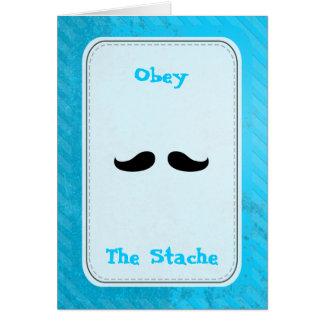 Manillar menudo tarjeta de felicitación