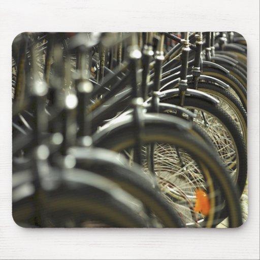 Manillares de ciclo que montan en bicicleta del ci tapete de ratones