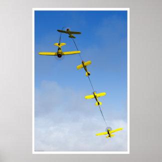 Maniobra aeroacrobacia del Chandelle con el aeropl Póster