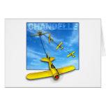 Maniobra aeroacrobacia del Chandelle con el Tarjeta De Felicitación