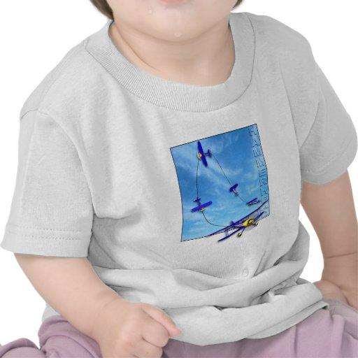 Maniobra aeroacrobacia del Hammerhead con el bipla Camiseta