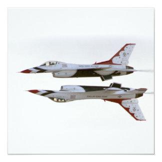 Maniobra de los Thunderbirds - espejo Invitación 13,3 Cm X 13,3cm
