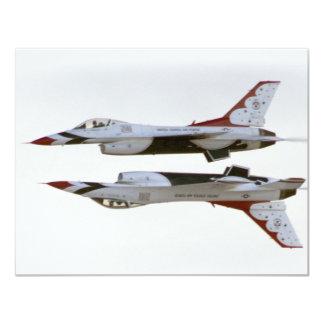 Maniobra de los Thunderbirds - espejo Invitación 10,8 X 13,9 Cm