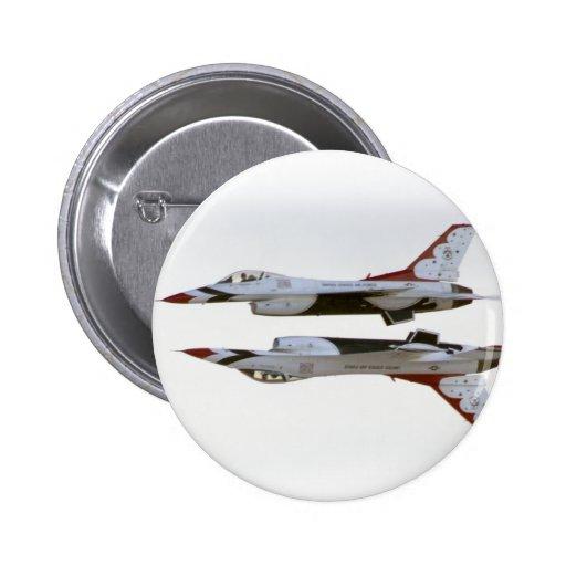 Maniobra de los Thunderbirds - espejo Pin Redondo 5 Cm