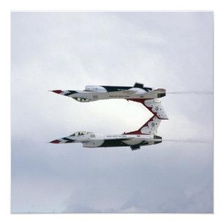 Maniobra de los Thunderbirds F-16 - invertida Invitación 13,3 Cm X 13,3cm