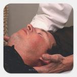 Manipulación de la quiropráctica calcomanías cuadradas