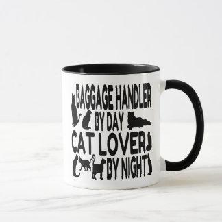 Manipulador de equipaje del amante del gato taza
