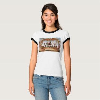 Manipulador de la serpiente del circo del vintage camiseta