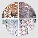Manipulated Paper origami Folds Round Stickers