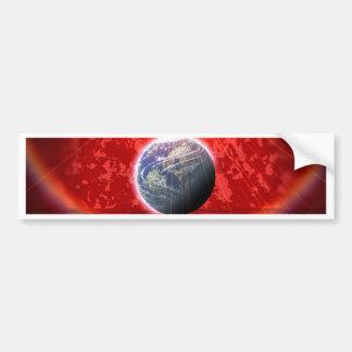 Manipulated World Car Bumper Sticker