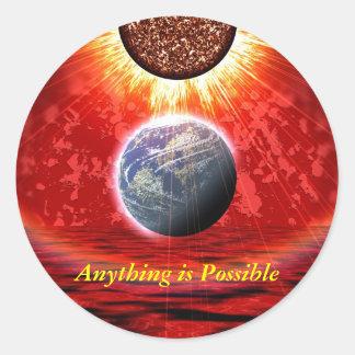 Manipulated World Classic Round Sticker