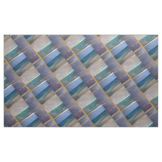 Manipulative Blue Green Purple Gold Muted Fractal Fabric