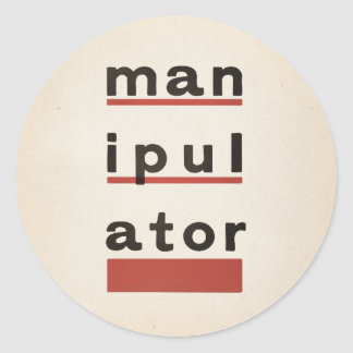 manipulATOR Classic Round Sticker