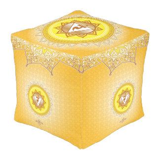 Manipura amarillo, 3ro (base) Chakra Pouf Cuadrado
