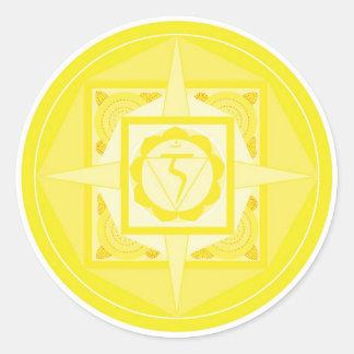 Manipura Chakra Mandala (solar plexus Chakra) Classic Round Sticker