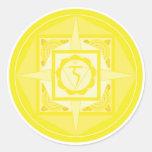 Manipura Chakra Mandala (solar plexus Chakra) Sticker