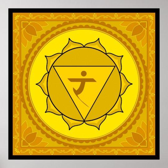 Manipura or solar plexus chakra Poster