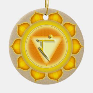 Manipura or Solar Plexus the 3rd Chakra Ceramic Ornament
