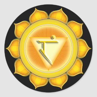 Manipura or Solar Plexus the 3rd Chakra Classic Round Sticker