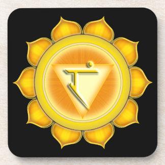 Manipura or  Solar Plexus the 3rd Chakra Drink Coaster