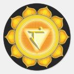 Manipura or Solar Plexus the 3rd Chakra Stickers