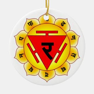 Manipura The Solar Plexus Chakra Ceramic Ornament