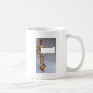 Maniquí adaptable del artista del mensaje tazas de café