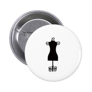 Maniquí blanco y negro del vestido de la moda pin redondo 5 cm
