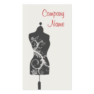 Maniquí de la costurera tarjetas de visita