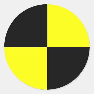 maniquí de la prueba del desplome etiquetas redondas