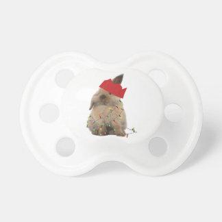 Maniquí de lúpulo del conejito del navidad chupetes de bebe