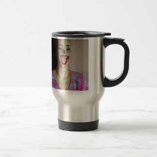 maniquí de risa taza de café
