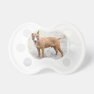 Maniquí del pacificador de bull terrier del inglés chupetes para bebés