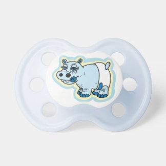 Maniquí lindo del hipopótamo del bebé chupete de bebé